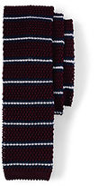 Classic Men's Silk Knit University Stripe Necktie-Navy Flags