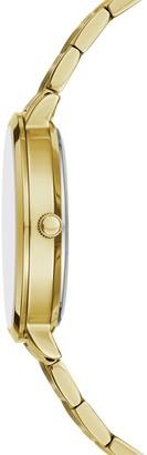 BCBGMAXAZRIA Classic Goldtone Stainless Steel & Crystal Bracelet Watch