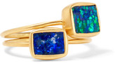 Pippa Small Set Of Two 18-karat Gold Opal Rings - M