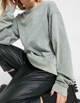 AllSaints Demi sweat in grey