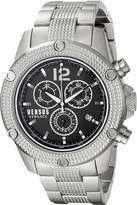 Versus By Versace Men's SOC100015 AVENTURA Analog Display Quartz Silver Watch