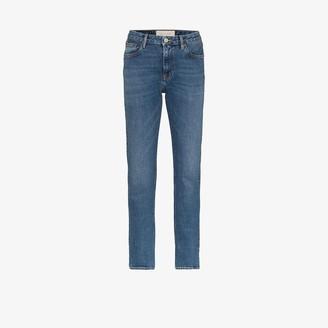 Straight leg vintage wash jeans