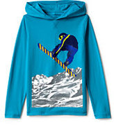 Lands' End Boys Husky Novelty Graphic Hoodie-Snowboarder
