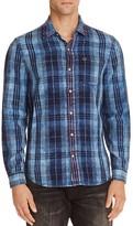 True Religion Indigo Plaid Regular Fit Button-Down Shirt