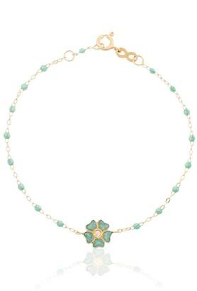 Gigi Clozeau 18kt Yellow Gold Diamond Flower Bracelet