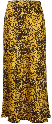 Bec & Bridge Turtle Rock printed silk midi skirt