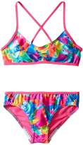 Speedo Kids Tie-Dye Sky Two-Piece Swimsuit Set (Big Kids)
