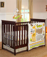 NoJo Zoobilee 4-Pc. Crib Bedding Set Bedding