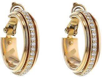 Piaget 2010s pre-owned yellow gold Possession diamond hoops