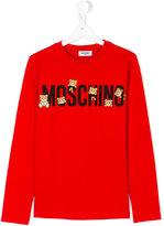 Moschino Kids teen long sleeve printed T-shirt