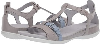 Ecco Summer Buckle Sandal (Black/Dark Shadow Metallic Cow Nubuck/Cow Leather) Women's Shoes