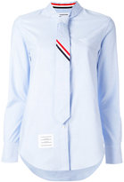 Thom Browne tie shirt - women - Cotton - 40
