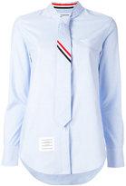 Thom Browne tie shirt - women - Cotton - 42