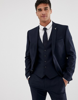 Farah Smart Henderson skinny fit suit jacket in navy