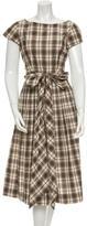 Michael Kors Plaid Mini Dress