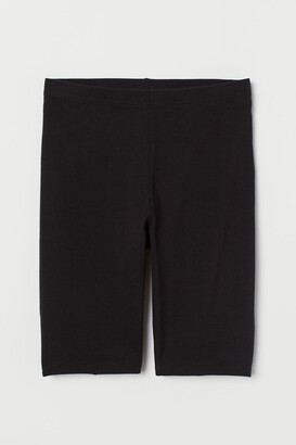 H&M Cotton Jersey Cycling Shorts - Black