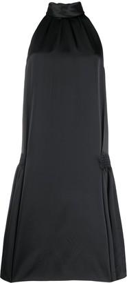 Victoria Victoria Beckham Flared Mock-Neck Cocktail Dress