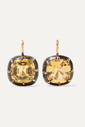 Fred Leighton Collection 18-karat Gold, Silver And Citrine Earrings