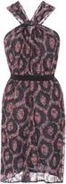 Isabel Marant Cotton Silk Tevy Halter Neck Mini Dress
