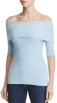 MICHAEL Michael Kors Off-the-Shoulder Ribbed Top - 100% Exclusive
