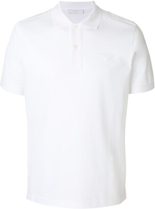Prada Logo Patch Polo Shirt