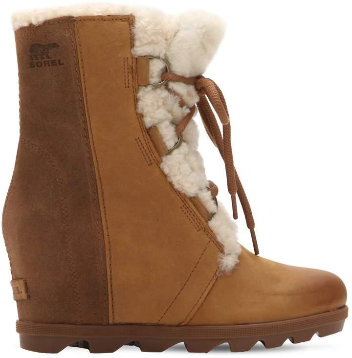 Sorel Joan Of Arctic Shearling Wedge Boots