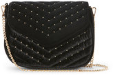 Urban Expressions Black Andromeda Quilted Velvet Crossbody