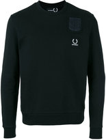 Fred Perry embroidered logo pocket sweatshirt - men - Cotton - 32