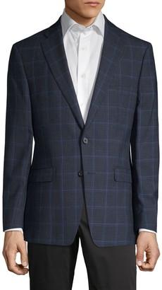 Calvin Klein Windowpane Plaid Slim-Fit Sportcoat