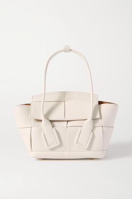 Bottega Veneta Arco Mini Intrecciato Textured-leather Tote - White