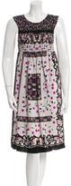 Anna Sui Floral Print Sleeveless Dress