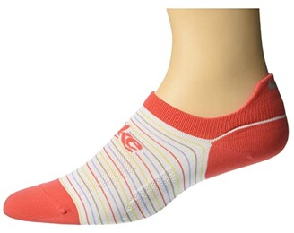 Nike Spark Retro Lightweight No Show Socks (White/Track Red/Reflective) Crew Cut Socks Shoes