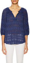 Rebecca Taylor Silk Ice Cap Embroidered Blouse