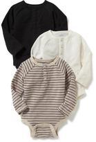 Old Navy Henley Bodysuit 3-Pack for Baby