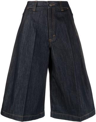Societe Anonyme High-Waisted Denim Shorts
