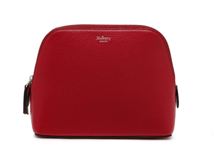 Mulberry Continental Cosmetic Pouch Scarlet Small Classic Grain
