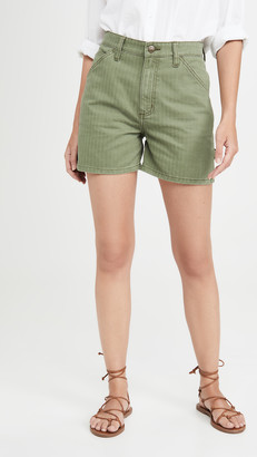 Lee Vintage Modern High Rise Dungaree Shorts
