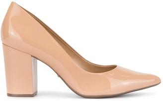Schutz Patent Block Heel Sandals