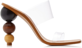 Cult Gaia Vita PVC and Wood Sandals