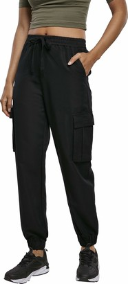 Urban Classics Women's Hose Ladies Viscose Twill Cargo Pants Dress