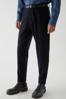 Cos Wool Crepe Tapered-Leg Chino Pants
