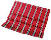 Red Striped 100% Cotton Table Runner from Guatemala, 'Latin Festival'