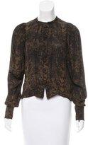 Stella McCartney Silk Ornate Print Top