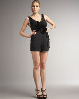 Robert Rodriguez Black Label Pleated Short Jumpsuit