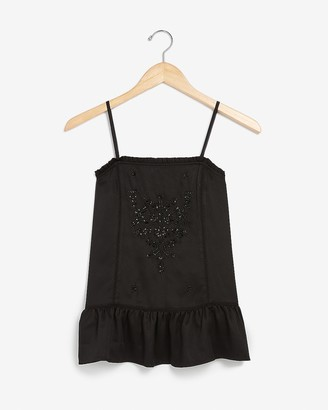 Express Embroidered Peplum Tank