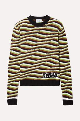 Prada Striped Cashmere Sweater - Brown