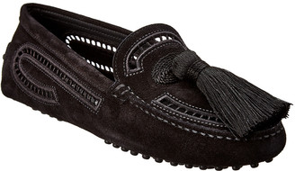 Tod's Gommino Tassle Suede Loafer