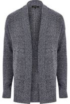 River Island Mens Navy slouchy cardigan