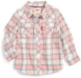 Levi's Infant Girl's The Western Plaid Shirt