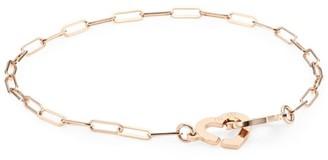 Dinh Van Double Coeurs 18K Rose Gold Chain Bracelet